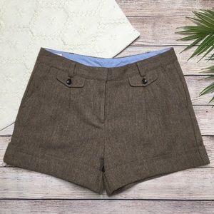Lands End Brown Herringbone Shorts